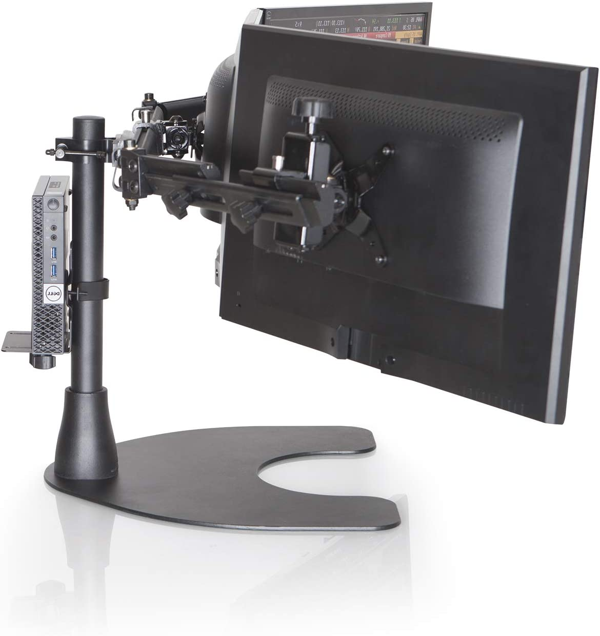 Ergotech Freedom Thin Client Mount VESA Plate, Perfect to mount a Mini PC or Computer, supports CPU's 0.6