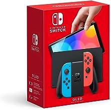 Nintendo Switch (OLED Model) - Neon Red & Neon Blue Joy Con