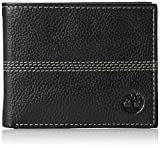 Timberland Men's Blix Slimfold Leather Wallet, Black (Quad Stitch), One Size