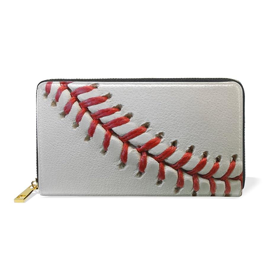 量ギャングスター渇きAOMOKI 財布 長財布 レディース 本革 大容量 ラウンドファスナー 通勤 通学 野球 ボール