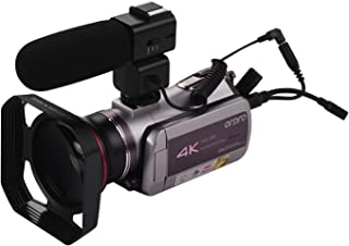 Andoer HDV-AZ50 Portable Real 4K UHD 30FPS WiFi Digital Video Camera Camcorder 3.1 Inch IPS Touchscreen 64X Digital Zoom IR Night Vision Camcorder with Camera Battery 0.39X Super Wide Angle Lens