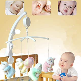 Anniston Kids Toys, Baby Crib Bed Hanging Bell Wind-up Rotating Music Box Kids Develop Toy Gift Learning Education for Bab...
