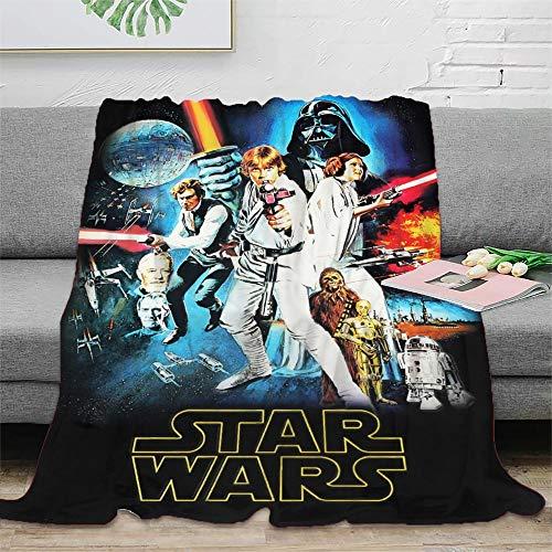 STTYE Manta de franela de microfibra suave de Star Wars para sofá, cómoda, se puede utilizar como sábana de cama, manta de viaje, colcha de siesta diaria, incluso cojín de sofá.