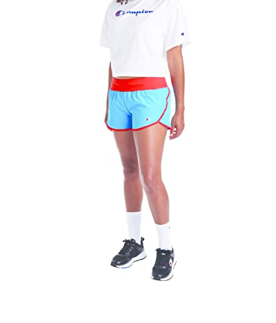 Champion Sport Shorts (Deep Blue Water/Red Flame) Women