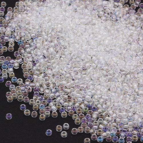PRECIOSA Perlas Checa Ilimitado de Arcoiris Cristal rocalla/Semillas 11/0-pack de 100G