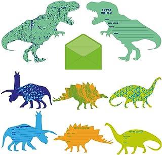 My Greca Dinosaur Birthday Invitations Party Supplies - 24 Dinosaur Birthday cards - Dinosaur Theme Invites for Boys
