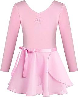 FONLAM Vestido Maillot de Ballet para Niña Conjunto de Dos