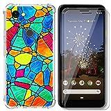 AIPNIS Cover Compatibile con Google Pixel 3A, Con 2 Pellicole in Vetro Temperato, Ultra Trasparente, in Silicone TPU Morbido Con Assorbimento Degli urti