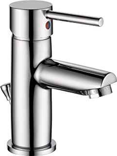Delta Faucet Modern Single-Handle Bathroom Faucet with Drain Assembly, Chrome 559LF-PP