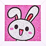 XIMISHOP Easy 3D Diamond Painting Kit Rabbit Bunny for Kids, Beginners Art Crafts Kits Easter Gift...