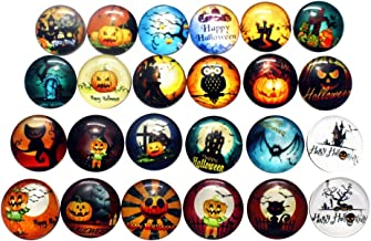 SUPVOX 10Pcs Halloween Snap Jewelry Snap Button Charms Pumpkin Bat Owl Glass Snap Button for Crafts Sewing Jewelry Making