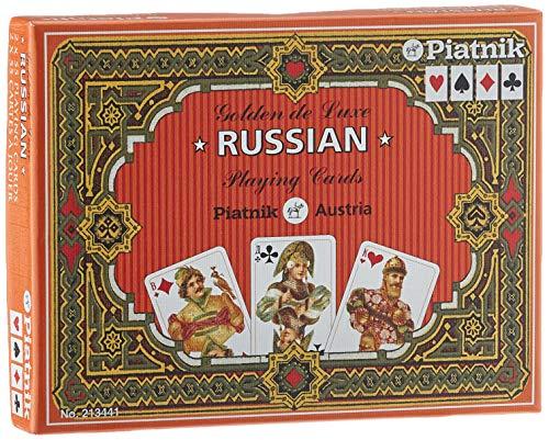 """Piatnik 2134 - Kartenspiel """"Golden Russisch"""", 2 x 55 Blatt"""