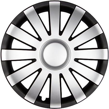 Autoteppich Stylers 14 Zoll Radkappen Agat Schwarz Silber Matt Farbe Und Größe Wählbar Auto