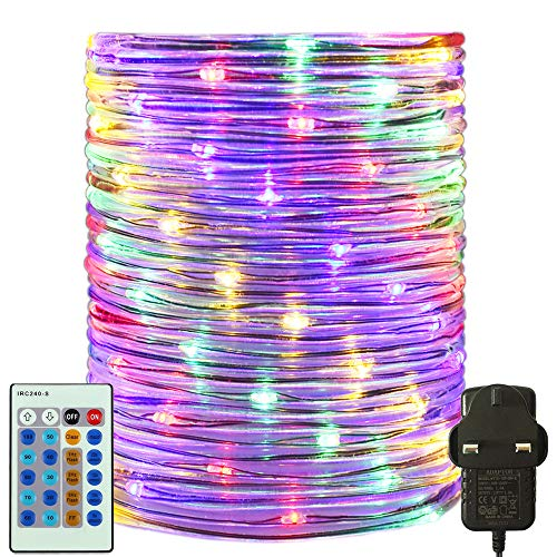 RcStarry 30M/100FT 300 LED Dia 3MM Rope/Wire Lights Multicolor, Dimmable Indoor/Outdoor IP65 Waterproof Fairy Lights Plug in with Remote for Garden, Patio, Deck, Landscape Lighting, Bedroom and More