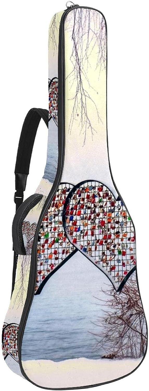 Acoustic Guitar Oakland Mall Bag Valentine's Day Adjustable Strap Save money Gu Shoulder