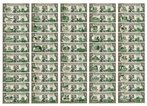 Complete Set of All 50 State $1 Bills - Genuine Legal Tender - U.S. One-Dollar Currency