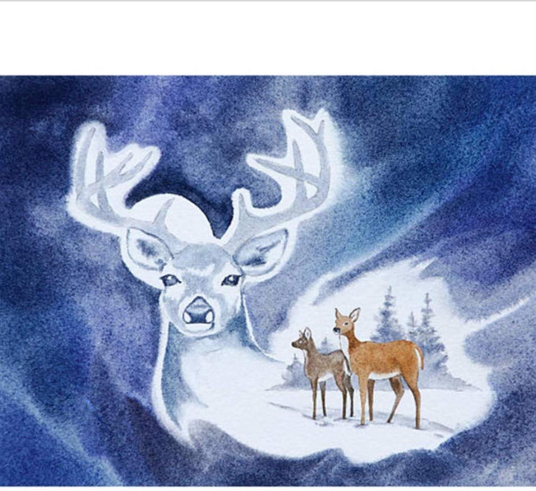 WAZHCY Malen Sie nach Zahlen weiße abstrakte Deer DIY für Erwachsene Kinder Spielzeug Home Wandkunst Dekoration Geschenk-with Frame B07NRS79T1 | New Style