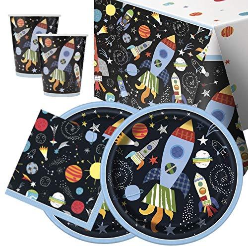 Paquete de 16 vajillas para fiesta de espacio exterior