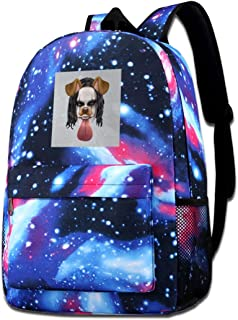 Galaxy Printed Shoulders Bag The Crow Brandon Lee Dog Snapchat Filter Fashion Casual Star Sky Backpack For Boys&girls