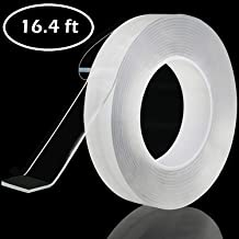 2 Pack Home Kitchen Traceless Washable Adhesive Tape Caulk for Bathtub Bathroom Shower Toilet Kitchen Wall Sealing (16.4 ft)