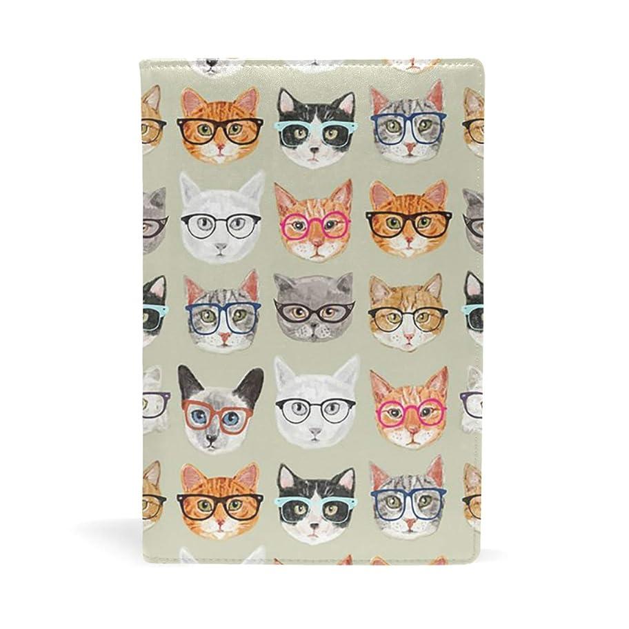 威する光沢役員可愛い 猫 顔 ブックカバー 文庫 a5 皮革 おしゃれ 文庫本カバー 資料 収納入れ オフィス用品 読書 雑貨 プレゼント耐久性に優れ