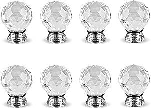 ba/ño aleaci/ón de aluminio resistente 85.00 * 40.00 * 35.00 b cristal Starnearby Pomo para puerta de cocina