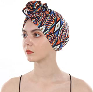 DuoZan New Women's Cotton Flower Elastic Turban Beanie Pre-Tied Bonnet Chemo Cap Hair Loss Hat