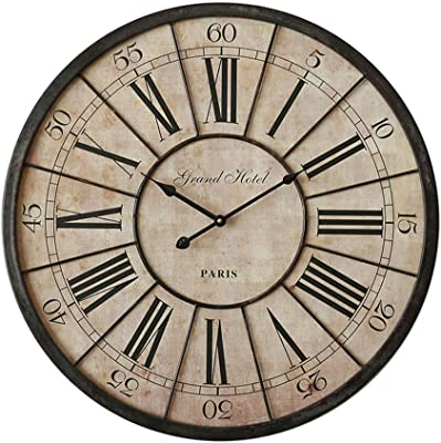 LPD Wall Clock Wall Clock Large Industrial Wind Vintage Decorative Wall Clock Bedroom Living Room Corridor