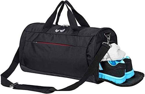 Gym Bag with Shoes Compartment,Sports Bag with Waterproof Pocket for Wet Towels,Travel Duffel Bag for Men and Women (...