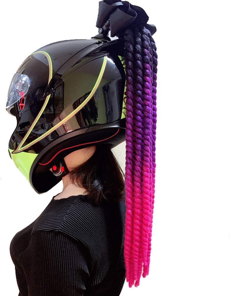 color degradado WLXW Casco de pelo con coletas de pigtails coleta con ventosa para motocicleta y bicicleta rampa de degradado trenzas 1 unidad de 27.5 pulgadas