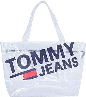 Tommy Hilfiger Unisex Tju Summer Tote Mesh Sırt Cantası, Classic White (Beyaz)