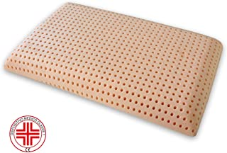 Marcapiuma - Memory Pillow - BIO Clean - Washable 30° Highly HYGIENIC and Fresh 100% Cotton Protector Cover - Orthopaedic - 100% Made in Italy