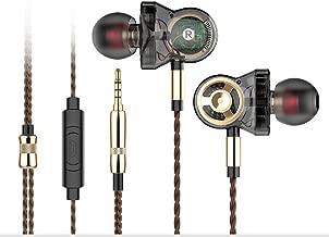 Granvela HD01 Triple-Driver Bass Earbuds for Music -Black