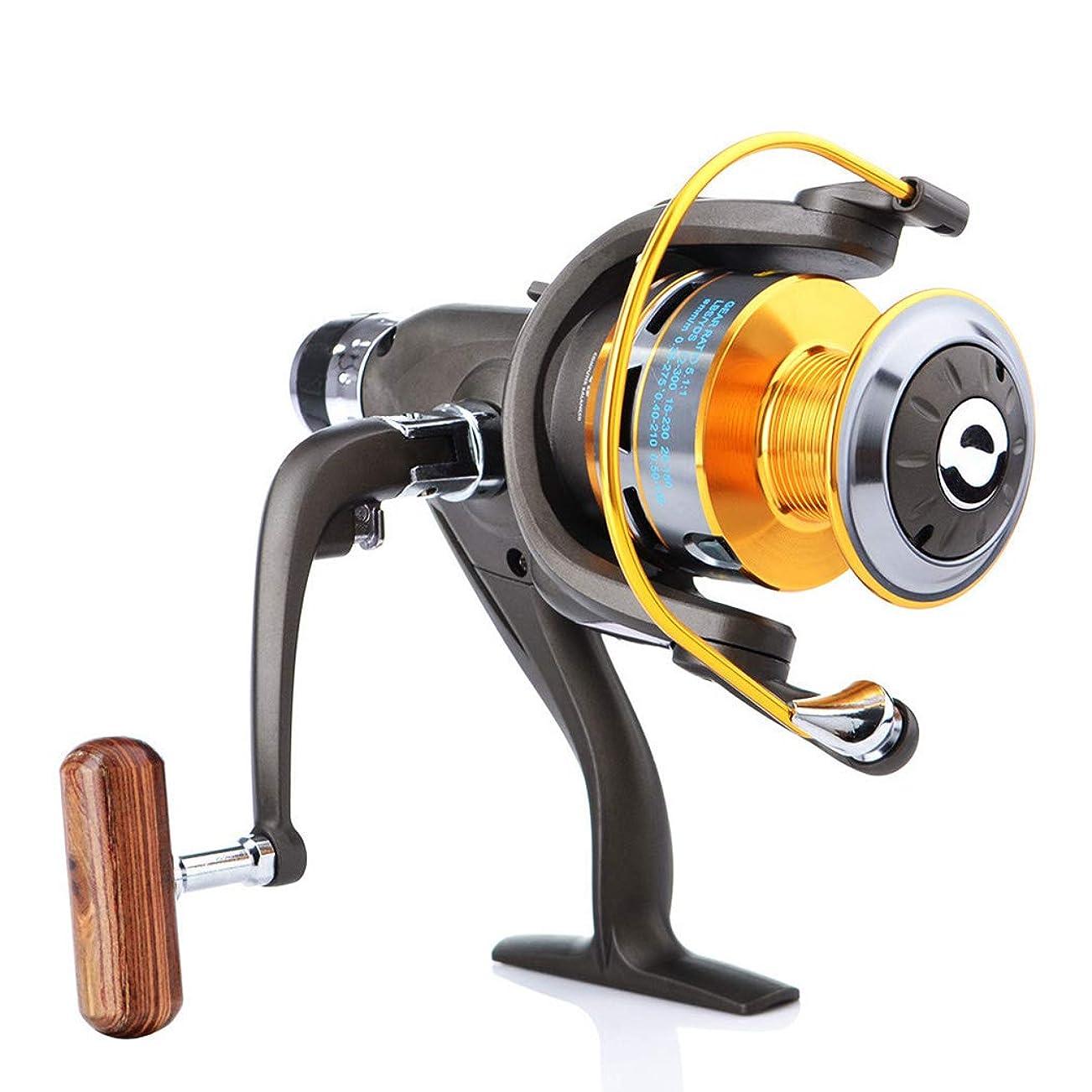 閃光空白ライム釣りリールメタルロッカーリールリール釣りリールスピニングホイール釣り道具シャフト釣りリール漁師金属リール