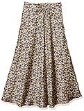 [ミラオーウェン] フラワープリントサテンロングスカート 09WFS202158 レディース PPL 日本 0 (日本サイズ7 号相当)