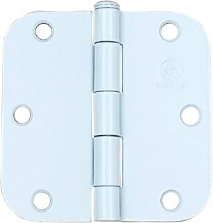 Penrod Door Hinges White 3.5 Inch with 5/8 Inch Radius, 2 Pack