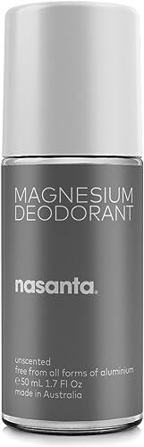 nasanta Magnesium Deodorant - Australian Made - Aluminum Free, Baking Soda Free, Alcohol Free - Clinically Tested for...