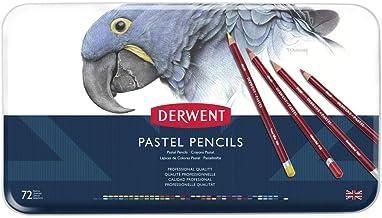 DERWENT(R) R32996 PASTEL PENCILS, TIN 72, 13.9 x 1 x 7.8 inches