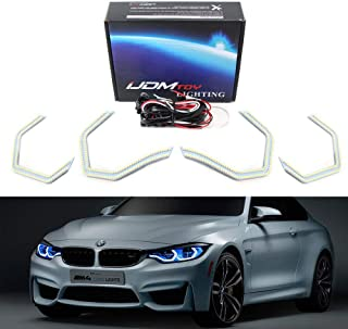 iJDMTOY 4pc 540-SMD Concept M4 Iconic Style LED Angel Eye Kit w/Relay Wirings For BMW 2 3 4 5 Series Headlight Retrofit, Xenon White
