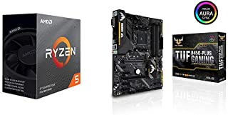 ASUS AMD B450搭載 AM4対応 マザーボード TUF B450-PLUS GAMING + AMD Ryzen 5 3600 with Wraith Stealth cooler 3.6GHz 6コア / 12スレッド 35MB 65W【国内正規代理店品】 100-100000031BOX