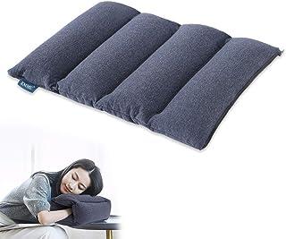 EMME お昼寝枕 デスク 枕 多機能 携帯枕 低反発 旅行枕 座布団 腰枕として使える 自宅勤務 オフィス用に最適 柔らか クッション 連結可能 おひるねピロー 洗える 35x45㎝ ネイビー