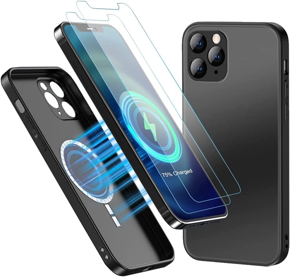 Gifts Silicone Magnetic Glass Case Compatible MagSa Max 54% OFF Pro iPhone 11 with