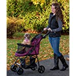 Pet Gear No-Zip Happy Trails Lite Pet Stroller for Cats/Dogs, Zipperless Entry, Easy Fold with Removable Liner, Storage Basket + Cup Holderr, Boysenberry 8