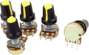 uxcell 5pcs 10K OHM 3 Terminal Linear Taper Rotary Audio B Type Potentiometer