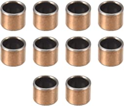 uxcell Sleeve Bearing 8mm Bore x 10mm OD x 8mm Length Plain Bearings Wrapped Oil-Less Bushings Pack of 10