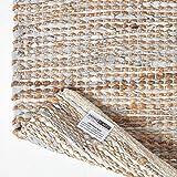 Homescapes Flickenteppich Madras, Naturfaser-Teppich aus recyceltem Leder und Hanf, 120 x 180 cm, Natur - 5