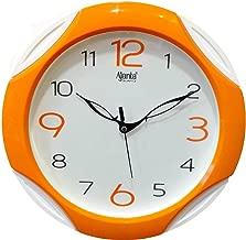 Ajanta Plastic Round Wall Clock (28 cm x 28 cm x 3.5 cm, Orange)