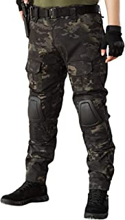 IDOGEAR Gen2 Combat Pants Multicam Men Pants with Knee Pads Airsoft Hunting Military Paintball Tactical Camo Trousers