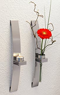 Best silver wall mounted candle holders Reviews