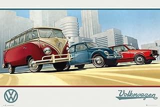 VW Camper Retro Art Print Poster 36x24